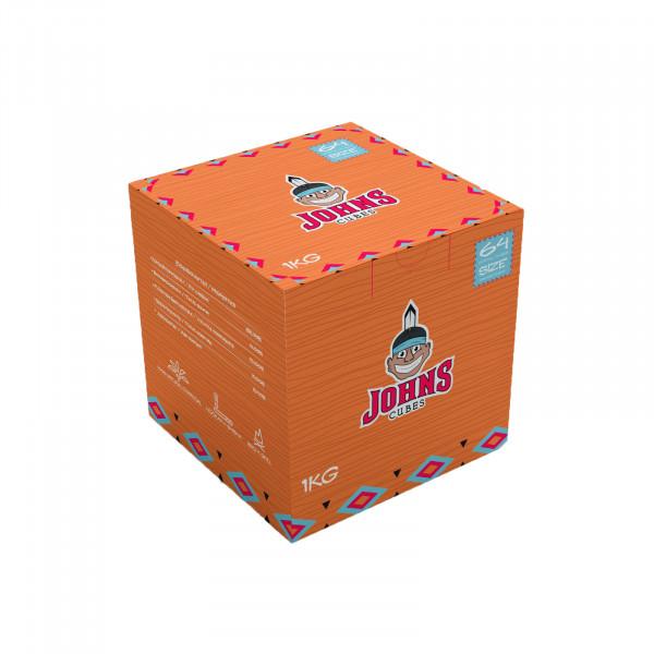 Johns Cubes Kohle 1kg   Brennt bis zu 100min   Aus Kokos   Premiumqualität   Naturkohle   Schneller Versand