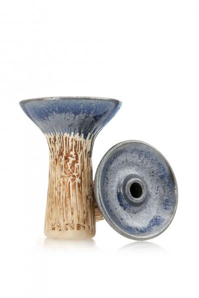 Werkbund Phunnel Spot Glazed Silver Shisha Kopf l Ton Kopf für die Shishia  | Einfacher Gebrauch | Bowl Design | Schneller Versand